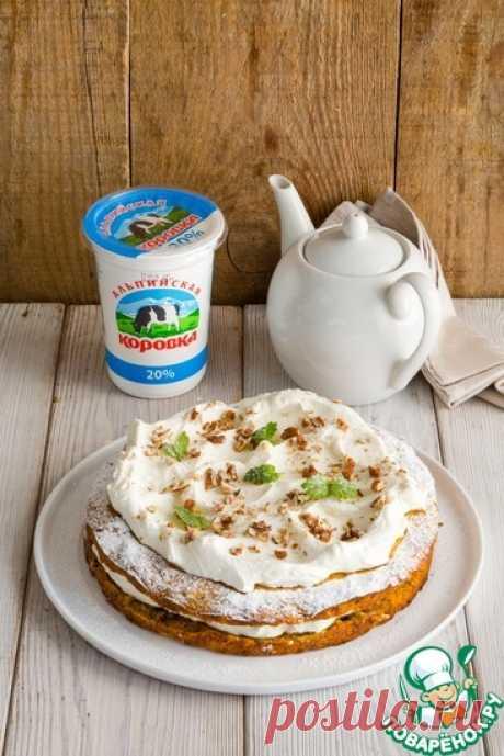 Морковный торт со сметанным кремом Кулинарный рецепт