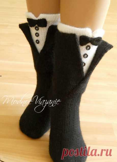 La Clase maestra de la labor de punto de los calcetines sobre cuatro rayos - Modnoe Vyazanie ru.com