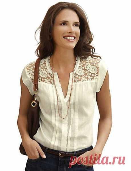 White Crochet Cotton Blouse   |  Pinterest • Всемирный каталог идей