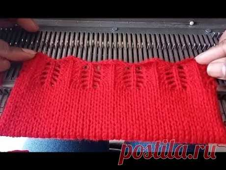 डिज़ाइनर स्वेटर सिंगल बॉर्डर 0003 मशीन से कैसे बनाए इन हिंदी | Single Sweater Border