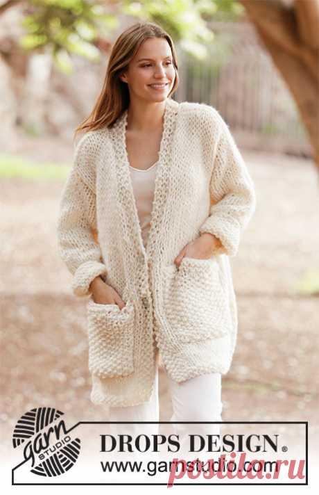 White Comfort Jacket от DROPS Design - блог экспертов интернет-магазина пряжи 5motkov.ru