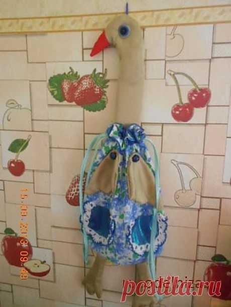 Сайт Рукодельница - социальная сеть для рукодельниц - Alyocha » дневник » Гусь-хлебница из ткани