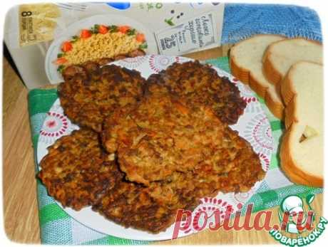 Печеночные лепешки с тыквой и пшеном - кулинарный рецепт