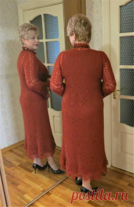 Мохеровое платье шетландским вязанием - Lilia Vignan