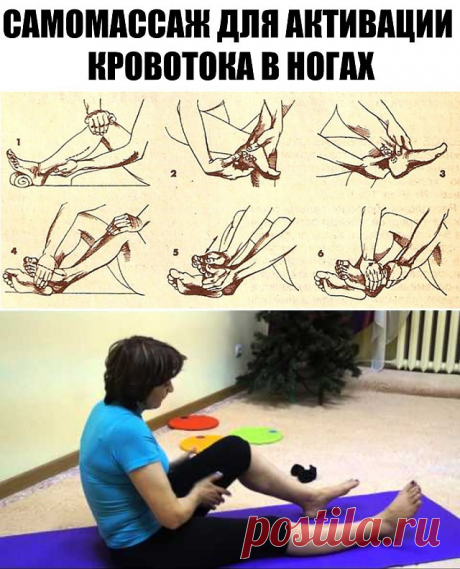 The offered self-massage makes active a blood-groove in fingers, stupnyakh, in knee, ankle joints of legs and muscles of lumbar department. It is an effective method of prevention of a varicosity, diseases of joints and a foot of legs.