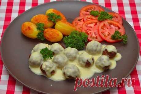 Мясные шарики из говяжьего фарша под сливочным соусом — Sloosh – кулинарные рецепты