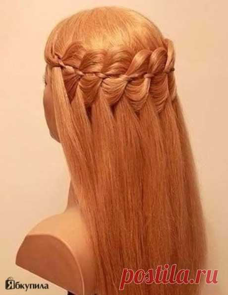 Step-by-step lesson of a hairdress Falls