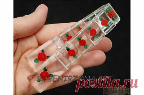 Купить четки перекидные из оргстекла с розами
