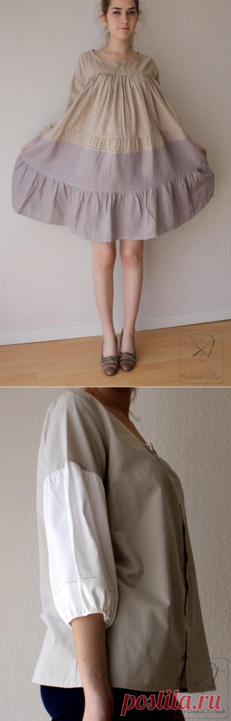 Переделка мужских рубашек в платья (большая подборка фото идей)
