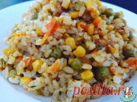 """Рис """"быстрый ужин"""" Кулинарный рецепт"""