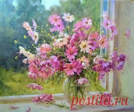 """"""" Ах , эти цветы полевые , вы сердцу любому милы ... """" Художник Игорь Смирнов ."""