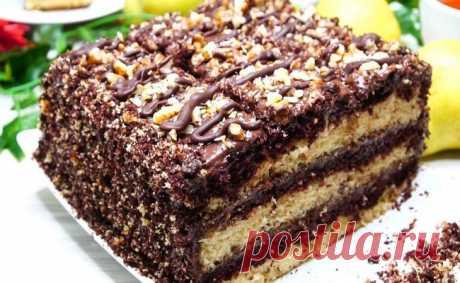 Шустрый Торт НЕОБЫЧНЫМ способом за 30 минут вместе с выпечкой, 2 кг! Ловите НОВУЮ идею! Торт «Полосатик» с шоколадным кремом. Всегда удачный, вкусный и красивый, обязательно порадует Ваших домочадцев.