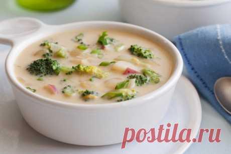 Сырный суп с шампиньонами и брокколи «День миллионера»