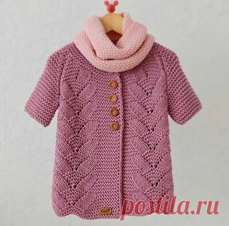 Original jacket for the girl, knitting from below