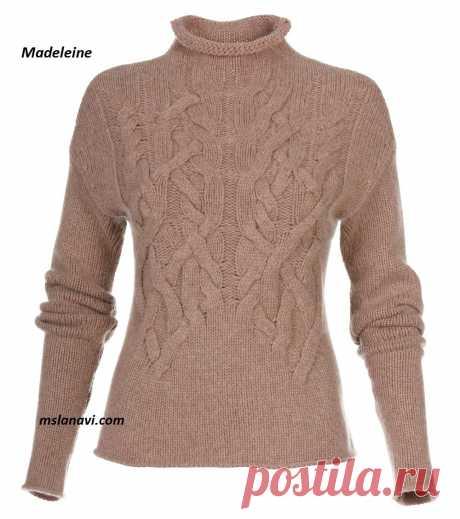 Модный пуловер спицами   Вяжем с Лана Ви