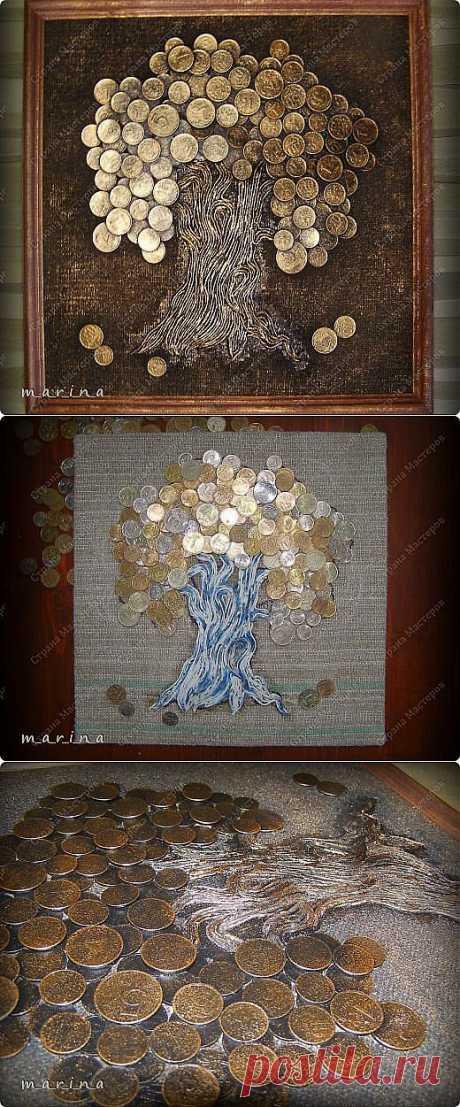 Монетное панно Волшебный саженец | Умелые ручки