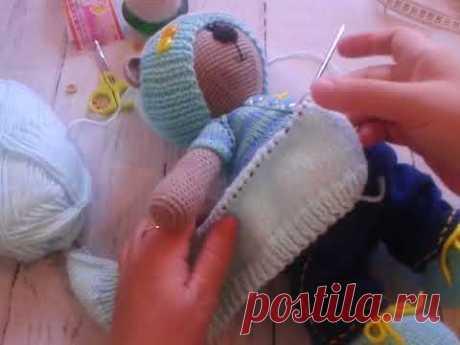 вязание курточки для тильды часть 1
