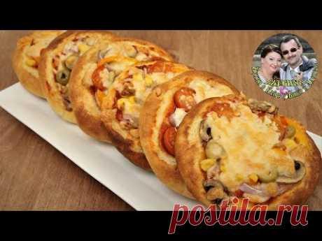 Эти мини пиццы-ватрушки, любимая вкусняшка нашей дочи. От Кухня в Кайф.