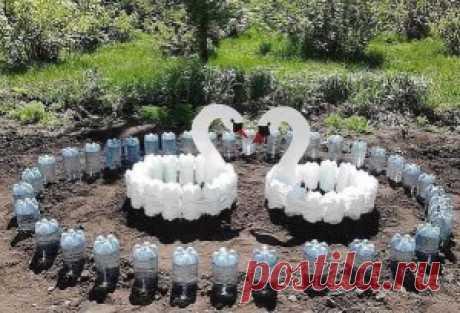 Идеи для дачи из пластиковых бутылок. Просто, красиво и экономно