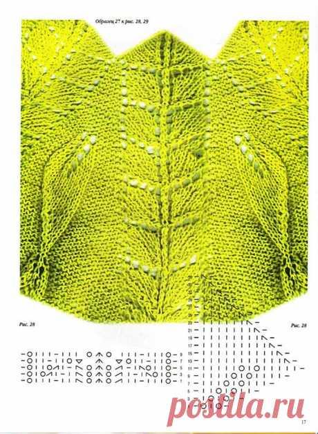 Вязание спицами: модели с круглой кокеткой