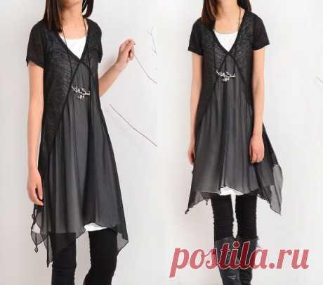 Идея платья из трикотажной футболки