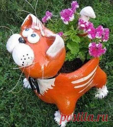 Котик-кашпо