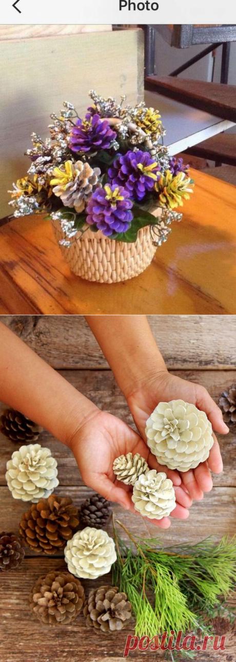 22 идеи декора из шишек