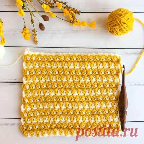 Woven Crochet Stitch Tutorial Interlocking Arched Columns Stitch