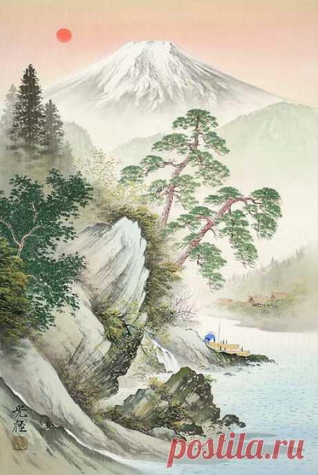 Очарование японских пейзажей на картинах художника Koukei Kojimа