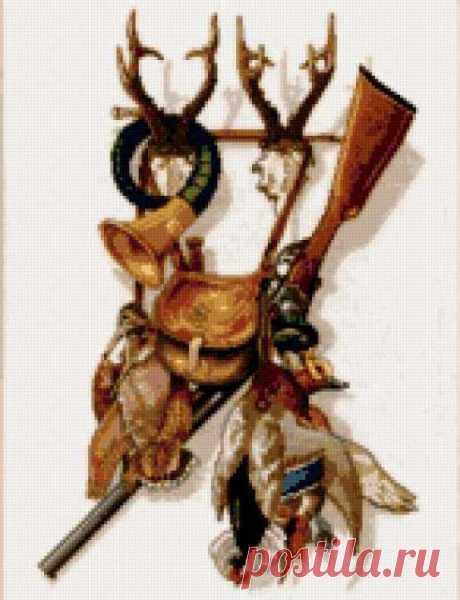 Предпросмотр - Схема вышивки «Охота» - Автор «jcbyrf» - Авторы - Вышивка крестом
