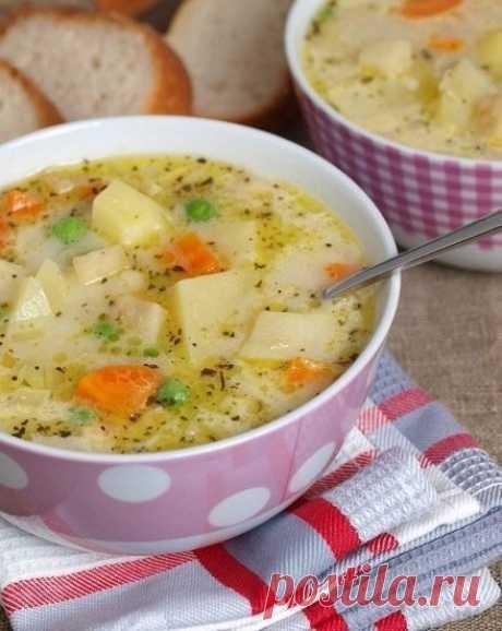 Milk vegetables soup