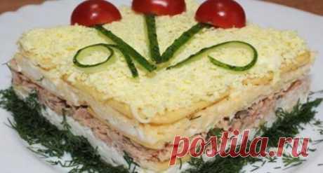 вкусный закусочный салат