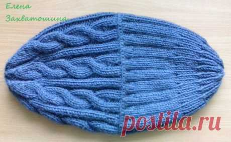 Зимняя мужская шапка - запись пользователя elena-nvs (Елена) в сообществе Вязание спицами в категории Вязание спицами. Работы пользователей