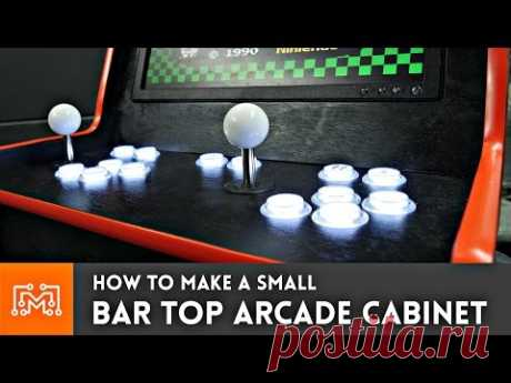 Bar Top Arcade Cabinet with a Raspberry Pi (from a single sheet of plywood)// How-To