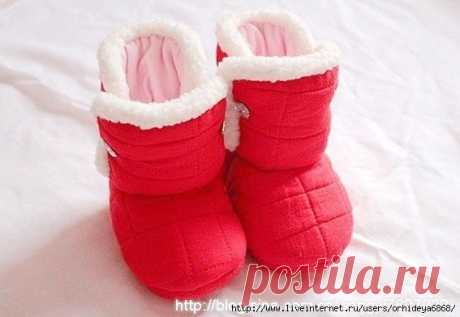 Шьём теплые сапожки для малышей — DIYIdeas