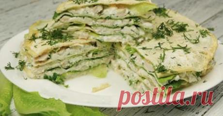Белковый торт с курицей — вкусное блюдо для похудения и поддержания формы.
