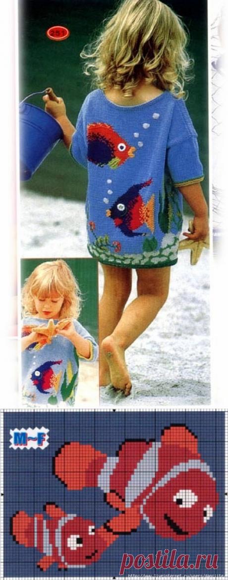 Схемы по вязанию - морская тема для детей