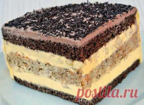 Обо всем на свете : Торт «Огни Парижа» с чрезвычайно нежным заварным кремом