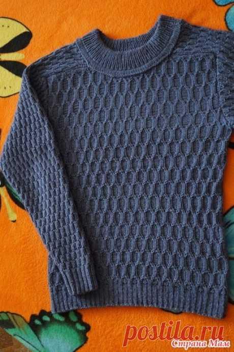 . Пуловер сыну - Вязание - Страна Мам