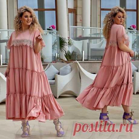 Роскошное летнее платье большой размер : новая коллекция. Смотри фото, покупай тренды!