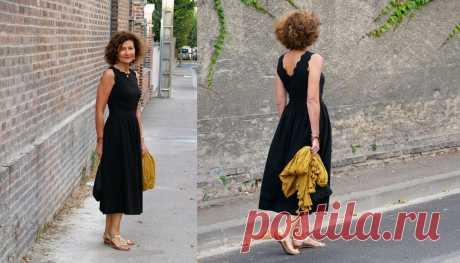 Как одевается француженка, которая шьет себе одежду сама   До и после 50-ти   Яндекс Дзен