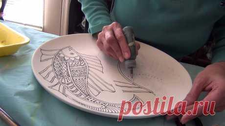 10 советов по работе с контурами по стеклу и керамике — Сделай сам, идеи для творчества - DIY Ideas