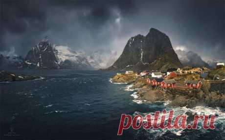Лофотенские острова, Норвегия. Фотограф – Дмитрий Купрацевич: nat-geo.ru/photo/user/114930/