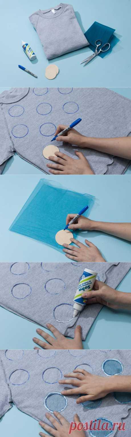Переделка старой футболки - как переделать футболку | Блог о рукоделии и моде
