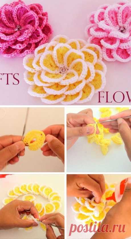 Crochet flowers are the best decoration you can add to any crochet project. And, thecrochet flowers I'm showing you are the cutest that I've seen in a while. This crochet flower tutorial is a fast and easy one. Also, you can create your custom pattern that fits your crochet taste. You can add this crochet…ВИДЕО