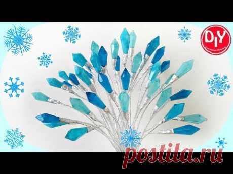 Кристаллики из эпоксидной смолы. Новогоднее украшение.