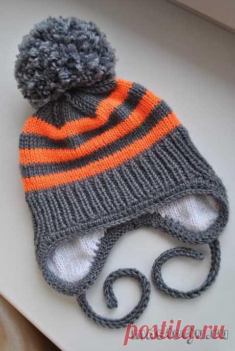 Children's winter hat (Knitting by spokes) | Inspiration of the Needlewoman Magazine