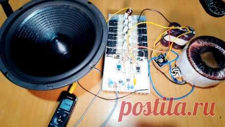 Собираем усилитель 500 Вт на транзисторах навесным монтажом Каждый радиолюбитель хоть раз в жизни должен собрать усилитель мощности звуковой частоты. В этом примере как раз представлен такой образец мощность 500 Вт. Собирается эта модель быстро, буквально за 1 час. Касс усилителя - АВ, аналоговый на биполярных транзисторах. Схема построена по классическому