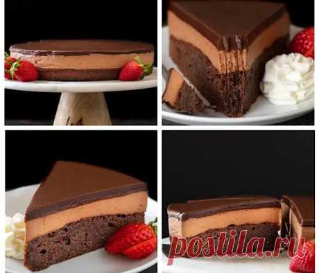 Трехслойный шоколадный торт с Нутеллой - Вкусные рецепты - медиаплатформа МирТесен