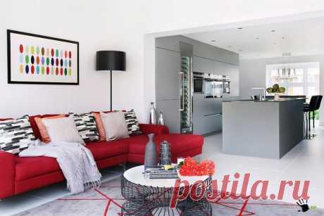 Красный цвет в фотографиях интерьеров - как и с чем сочетать мебель и обои узнайте на сайте Stone Floor в Туле  #красныйинтерьер#красныйпалитрыцветов#палитрыкрасного#счемсочетатькрасный#Тула#Stonefloor